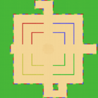 MKSC Unused SNES Battle Course 1 Map.png