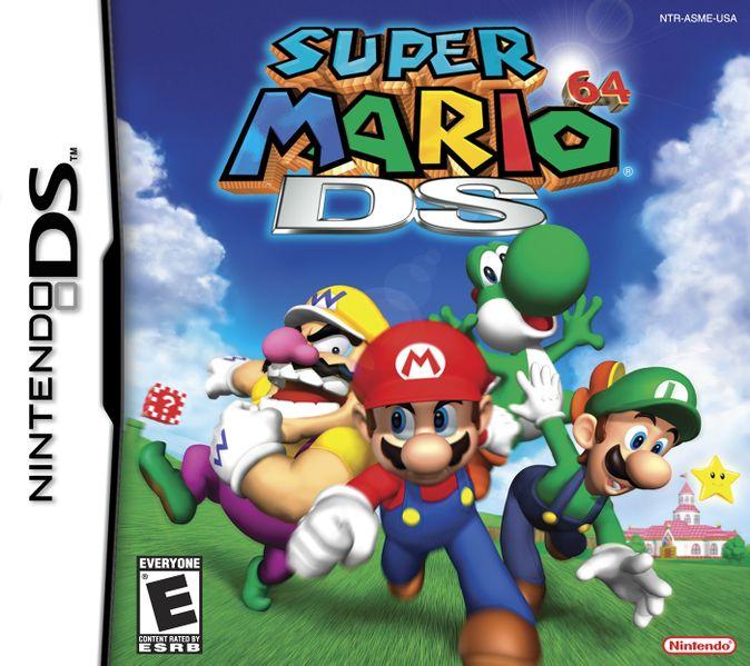 The box of Super Mario 64 DS.
