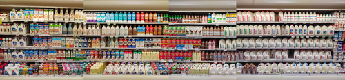 The milk wall at just one regular store, not even one that cares much about organic or alternatives.