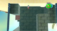 Mario runs for his life to obtain the Power Star.