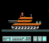 Tanks in the NES, SNES, and GBA versions of Super Mario Bros. 3