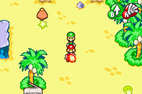 Mario using the Firebrand in Mario & Luigi: Superstar Saga and Mario & Luigi: Superstar Saga + Bowser's Minions