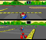 Balloon Battle mode in Super Mario Kart and Mario Kart 8.