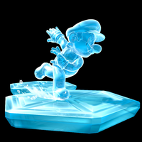 Ice Mario in Super Mario Galaxy (top), and New Super Mario Bros. Wii (below).