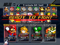 The complete character select screen roster in Multiplayer mode.