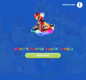Mario's Festive Jigsaw Jumble title screen.png