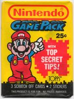 Unopened Nintendo Game Packs showing Mario and Princess Toadstool respectively