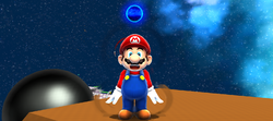 The Cosmic Spirit turning into an orb to help Mario.
