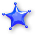 Blue Small Paint Star.png