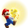NSMBU Glowing Baby Yoshi With Mario Artwork 2.png